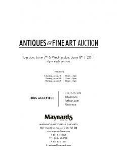 ANTIQUES & FINE ART auction