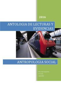 ANTOLOGIA DE LECTURAS Y EVIDENCIAS