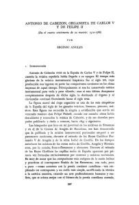 ANTONIO DE CABEZON, ORGANISTA DE CARLOS V Y DE FELIPE II