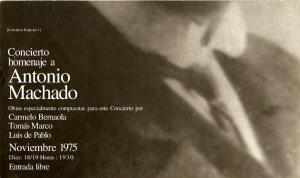 Antonio Machado. Concierto homenaje a