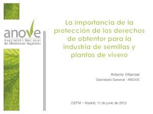 Antonio Villarroel. Secretario General - ANOVE