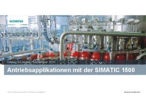 Antriebsapplikationen mit der SIMATIC 1500