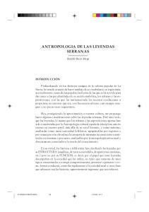 ANTROPOLOGIA DE LAS LEYENDAS SERRANAS