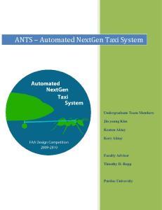 ANTS Automated NextGen Taxi System