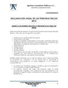 ANUAL DE LAS PERSONAS FISICAS 2013