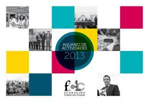 ANUARIO DE ACTIVIDADES 2013