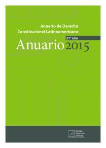 Anuario de Derecho Constitucional Latinoamericano