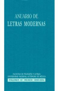 ANUARIO DE LETRAS MODERNAS