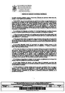 ANUNCIO DE SUBASTA DE BIENES INMUEBLES