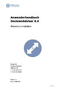 Anwenderhandbuch DecisionAdvisor 6.4