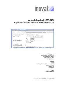 Anwenderhandbuch LZZS-BASt