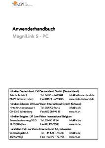 Anwenderhandbuch MagniLink S - PC