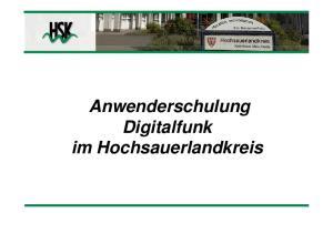 Anwenderschulung Digitalfunk im Hochsauerlandkreis