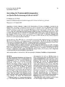 Anwendung der Neutronenakti ierungsanalyse zur Queeksilberbestimmung in Lebensmitteln*