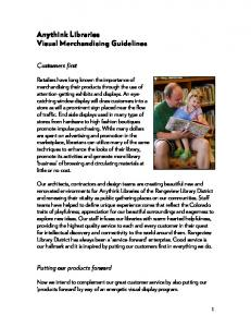 Anythink Libraries Visual Merchandising Guidelines