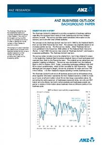 ANZ BUSINESS OUTLOOK BACKGROUND PAPER