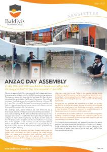 ANZAC DAY ASSEMBLY. Friday 19th April 2013 saw Baldivis Secondary College hold it s inaugural ANZAC Day Commemorative Assembly