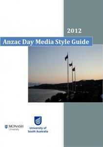 Anzac Day Media Style Guide