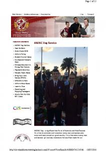 ANZAC Day Service. Page 1 of 12