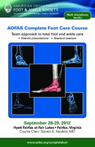 AOFAS Complete Foot Care Course