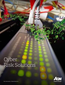 Aon Risk Solutions Financial Services Group Professional Risk Solutions. Cyber Risk Solutions. Risk. Reinsurance. Human Resources