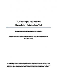 AORN Sharps Safety Tool Kit Sharps Injury Data Analysis Tool