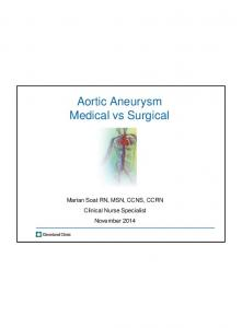 Aortic Aneurysm Medical vs Surgical