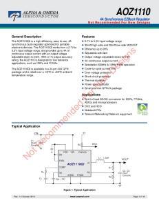 AOZ1110 4A Synchronous EZBuck Regulator