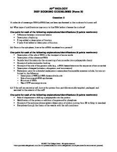 AP BIOLOGY 2007 SCORING GUIDELINES (Form B)