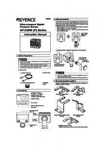 AP-C30W (P) Series Instruction Manual