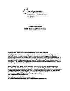 AP Chemistry 2006 Scoring Guidelines