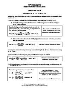 AP CHEMISTRY 2009 SCORING GUIDELINES