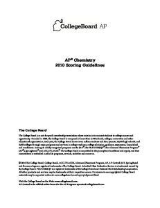 AP Chemistry 2010 Scoring Guidelines