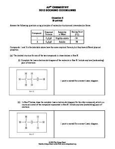 AP CHEMISTRY 2013 SCORING GUIDELINES