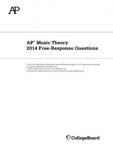 AP Music Theory 2014 Free-Response Questions