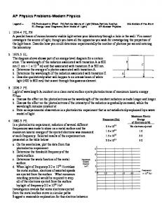 AP Physics Problems-Modern Physics