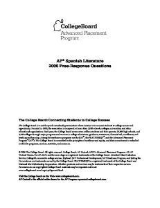 AP Spanish Literature 2006 Free-Response Questions
