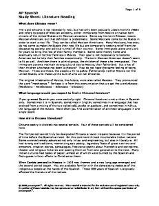 AP Spanish Study Sheet: Literature Reading