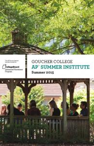 AP SUMMER INSTITUTE Summer 2015