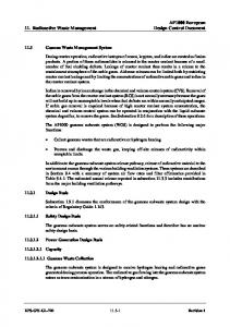 AP1000 European 11. Radioactive Waste Management Design Control Document