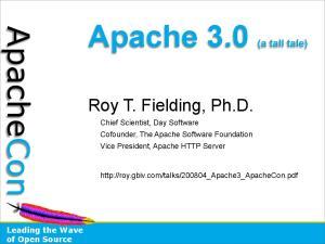 Apache 3.0 (a tall tale)