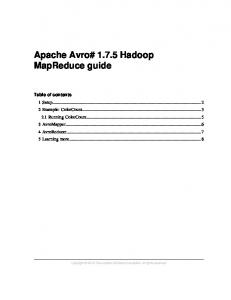 Apache Avro# Hadoop MapReduce guide