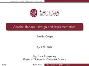 Apache Hadoop: design and implementation