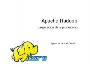 Apache Hadoop. Large scale data processing. Speaker: Isabel Drost