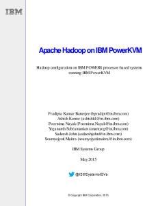 Apache Hadoop on IBM PowerKVM