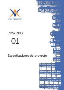 APARTADO. Especificaciones del proyecto