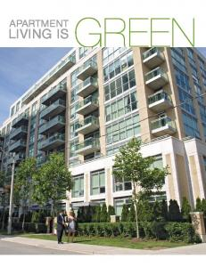 APARTMENT LIVING IS GREEN