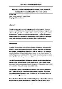 APEC as a Complex Adaptive System