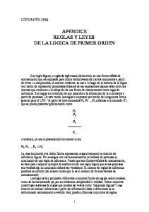 APENDICE REGLAS Y LEYES DE LA LOGICA DE PRIMER ORDEN