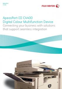 ApeosPort-III C4400 Digital Colour Multifunction Device